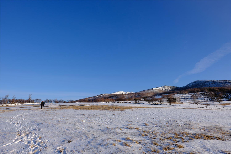 【厳冬期・雪山登山】四阿山~雪原ハイクと北アルプスの好展望~