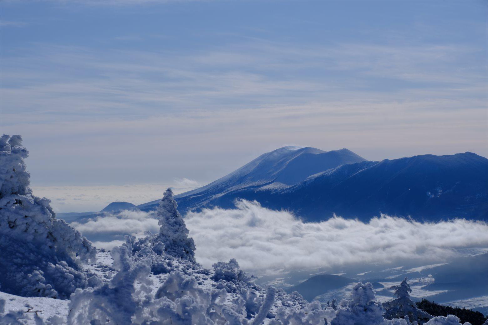 【厳冬期・雪山登山】四阿山 (35)