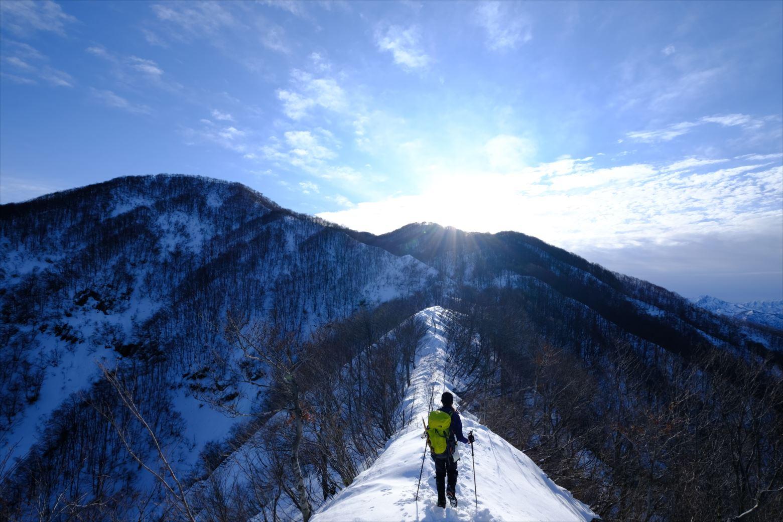 【厳冬期・雪山登山】守門岳 (15)
