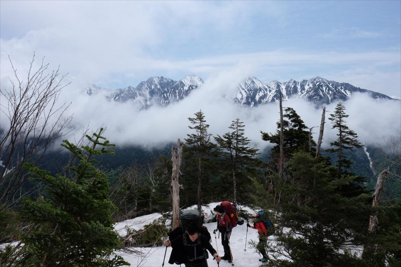 【残雪期・雪山登山】笠ヶ岳 (9)