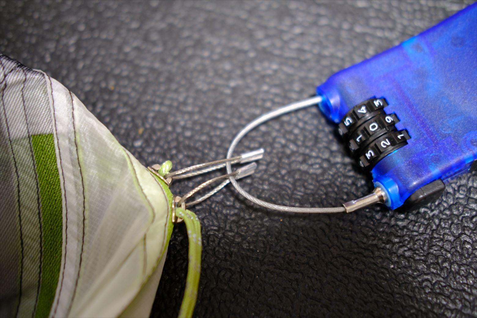 【テント盗難防止】切断不可能な鍵設置DIY方法