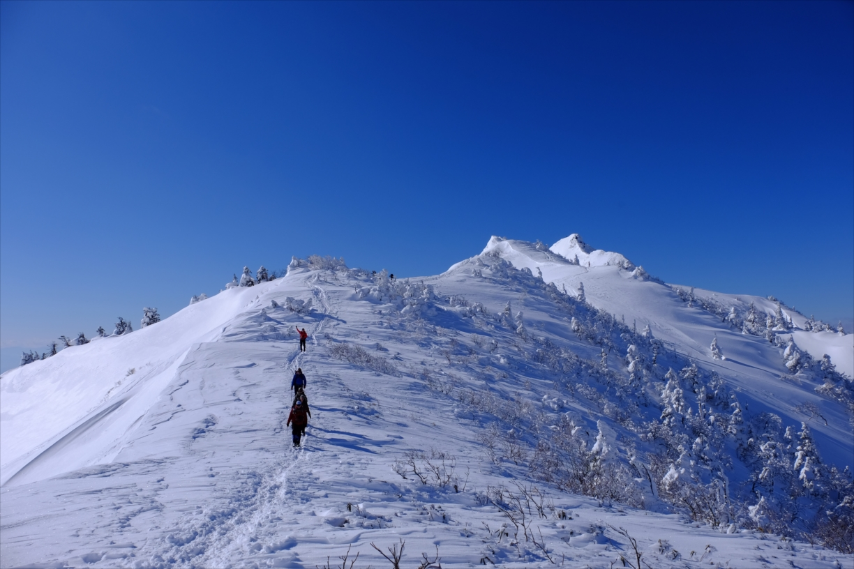 [snow mountain climbing] Mt. Joshu-Hotaka
