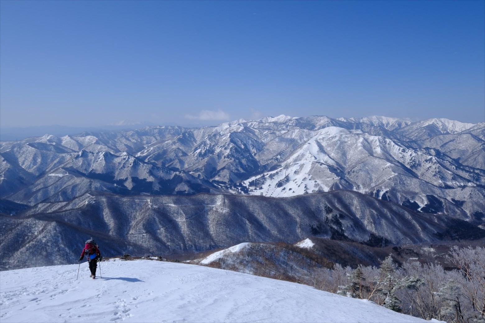 【厳冬期・雪山登山】仙ノ倉山 (15)