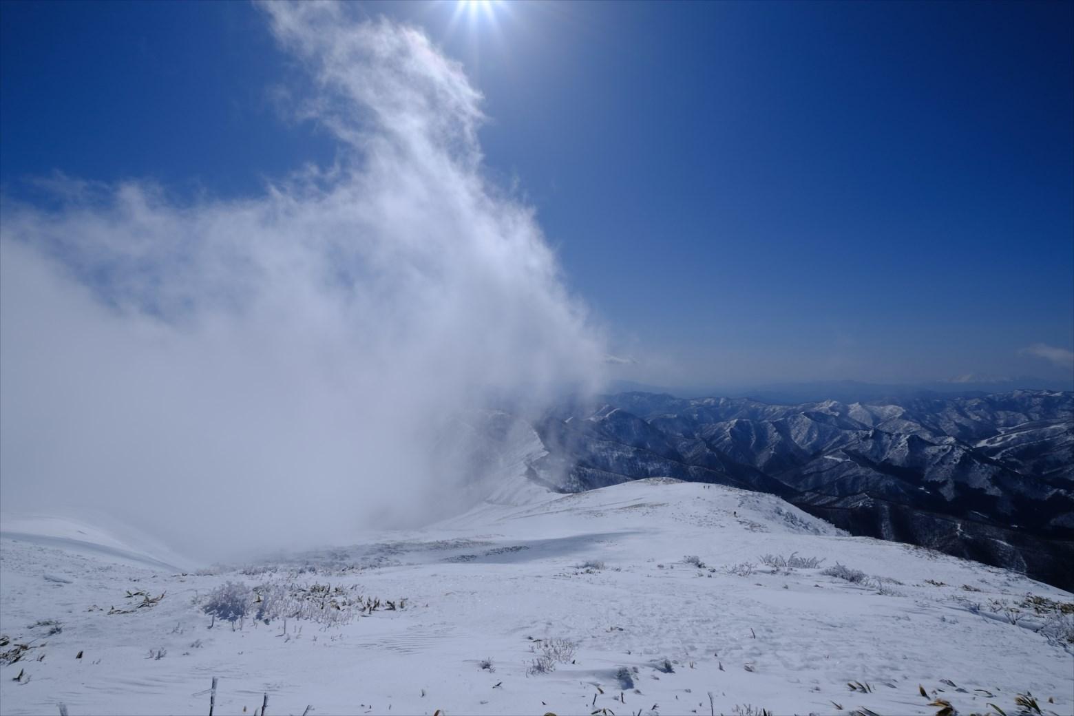 【厳冬期・雪山登山】仙ノ倉山 (19)