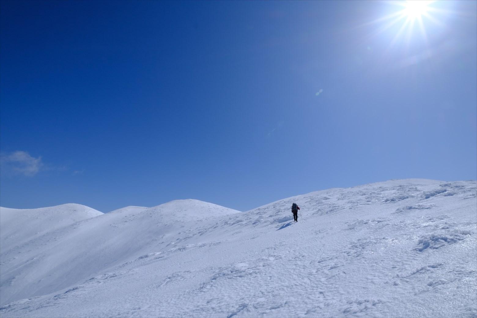 【厳冬期・雪山登山】仙ノ倉山 (30)