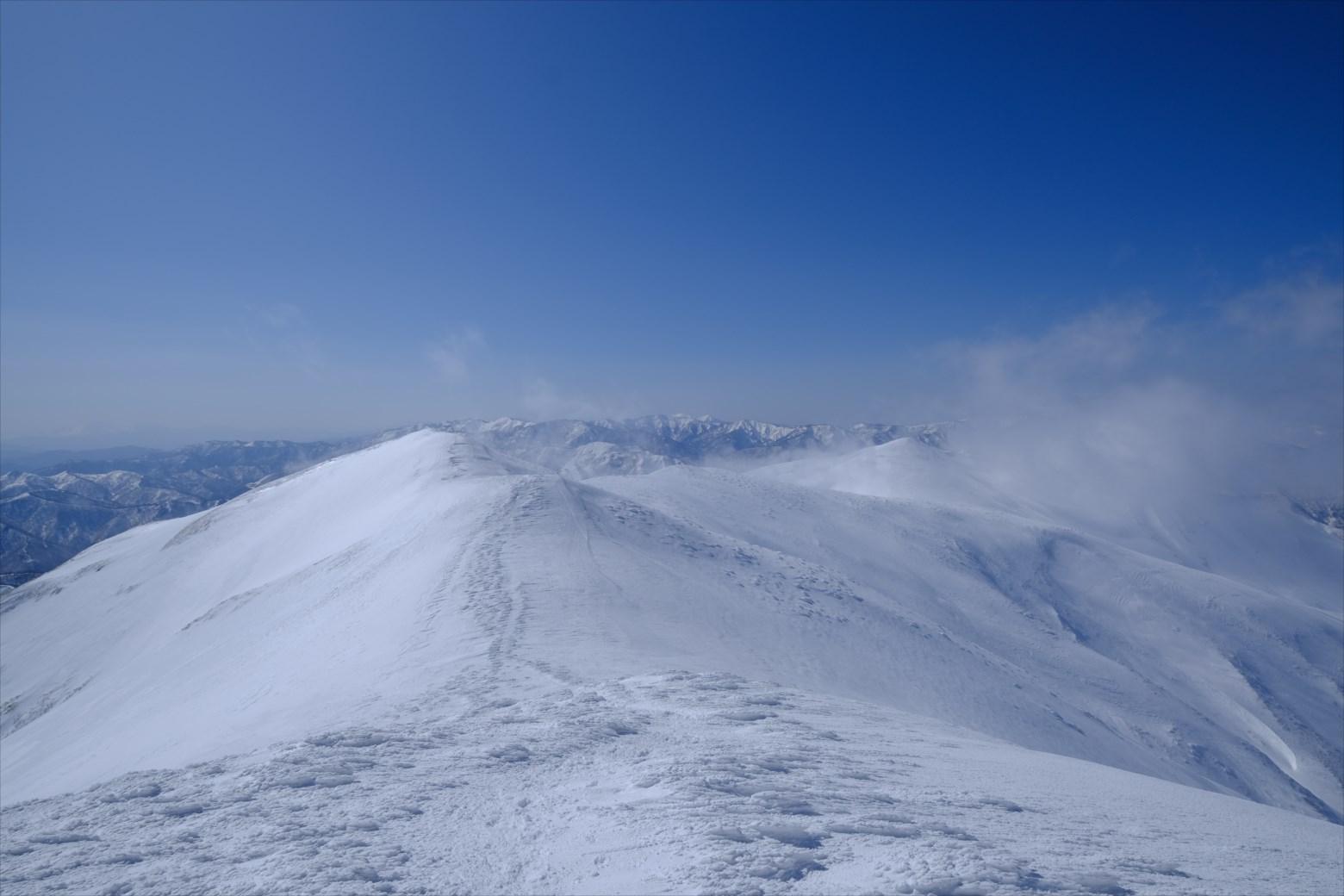 【厳冬期・雪山登山】仙ノ倉山 (40)