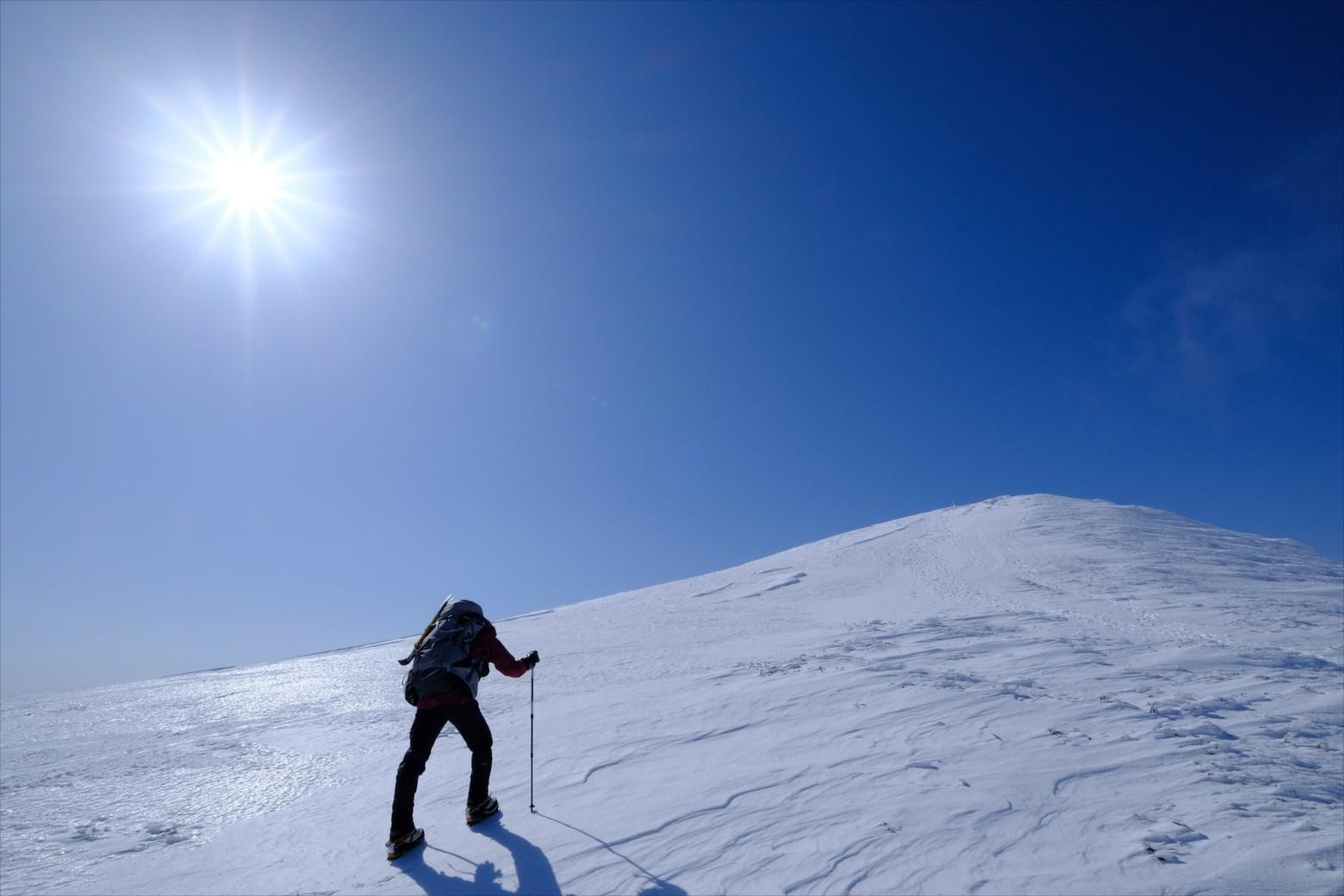 【厳冬期・雪山登山】仙ノ倉山 (45)