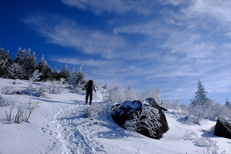 【厳冬期・雪山登山】四阿山 (29)