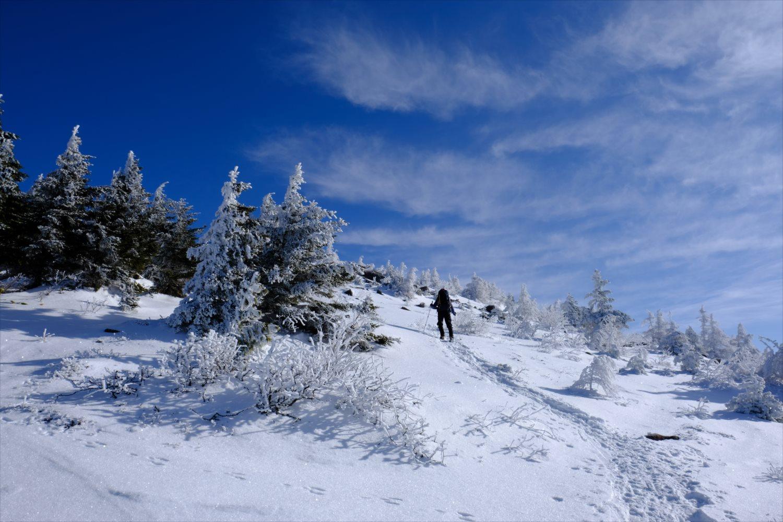 【厳冬期・雪山登山】四阿山 (30)