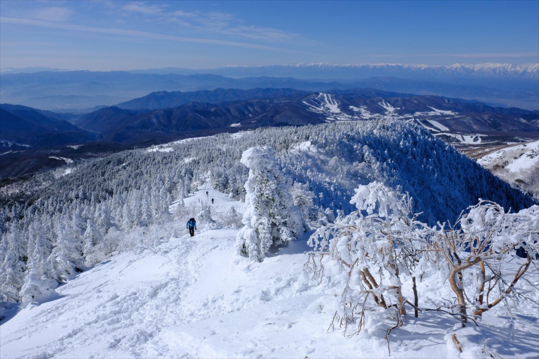 【厳冬期・雪山登山】四阿山 (51)