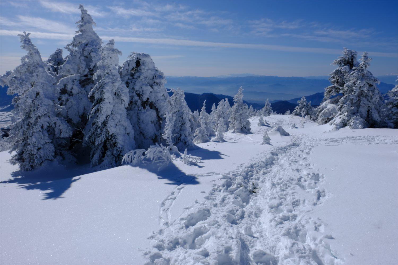 【厳冬期・雪山登山】四阿山 (52)