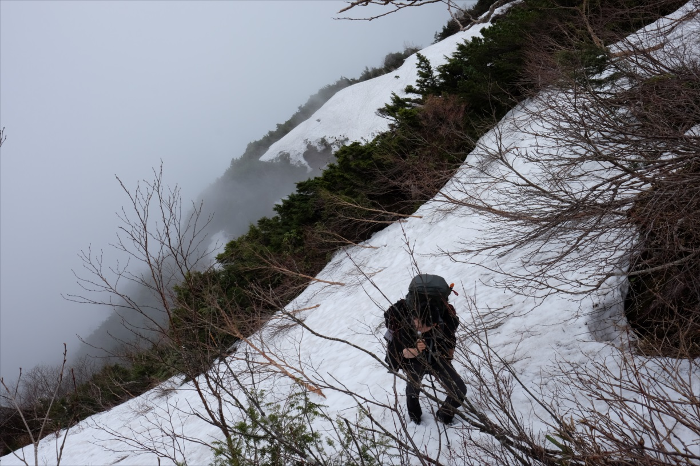 【残雪期・雪山登山】笠ヶ岳 (13)
