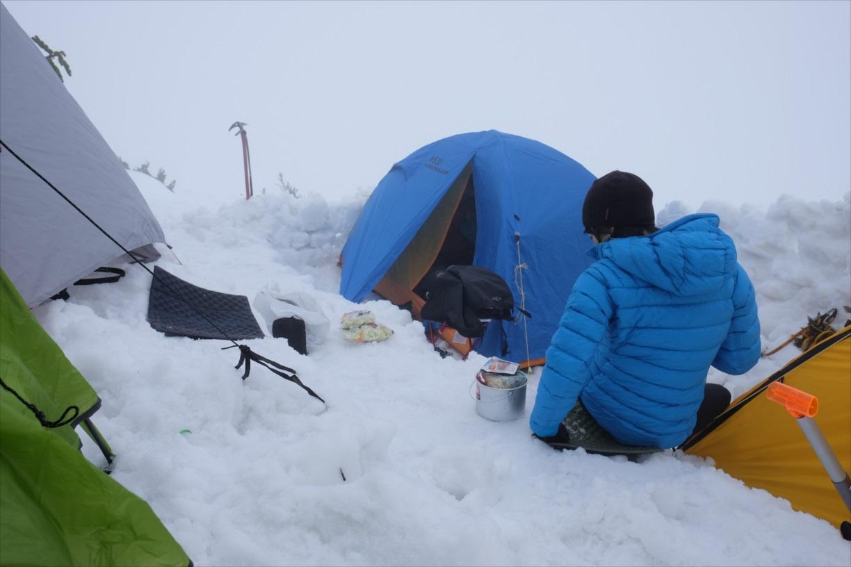 【残雪期・雪山登山】笠ヶ岳 (20)