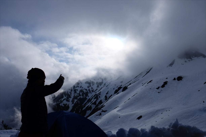 【残雪期・雪山登山】笠ヶ岳 (22)