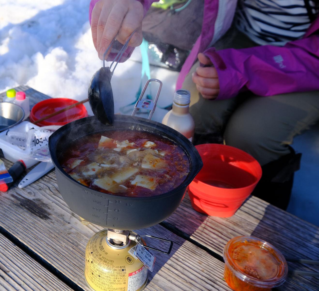 冬山の食糧事情