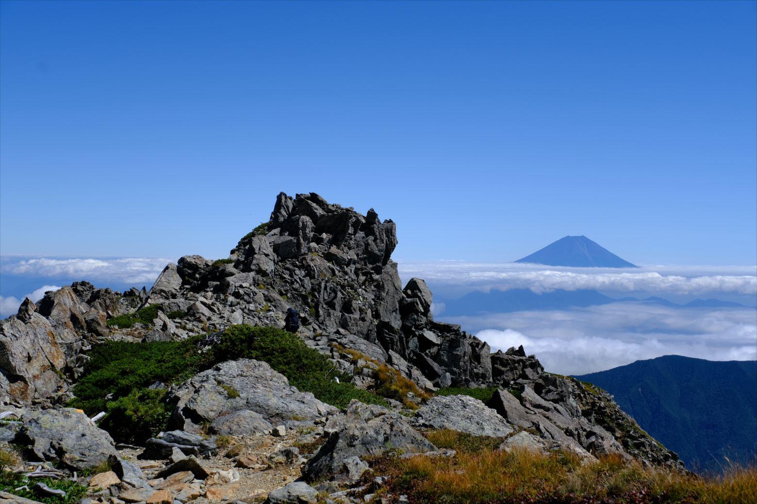 【秋山登山】赤石岳・荒川三山 (129)