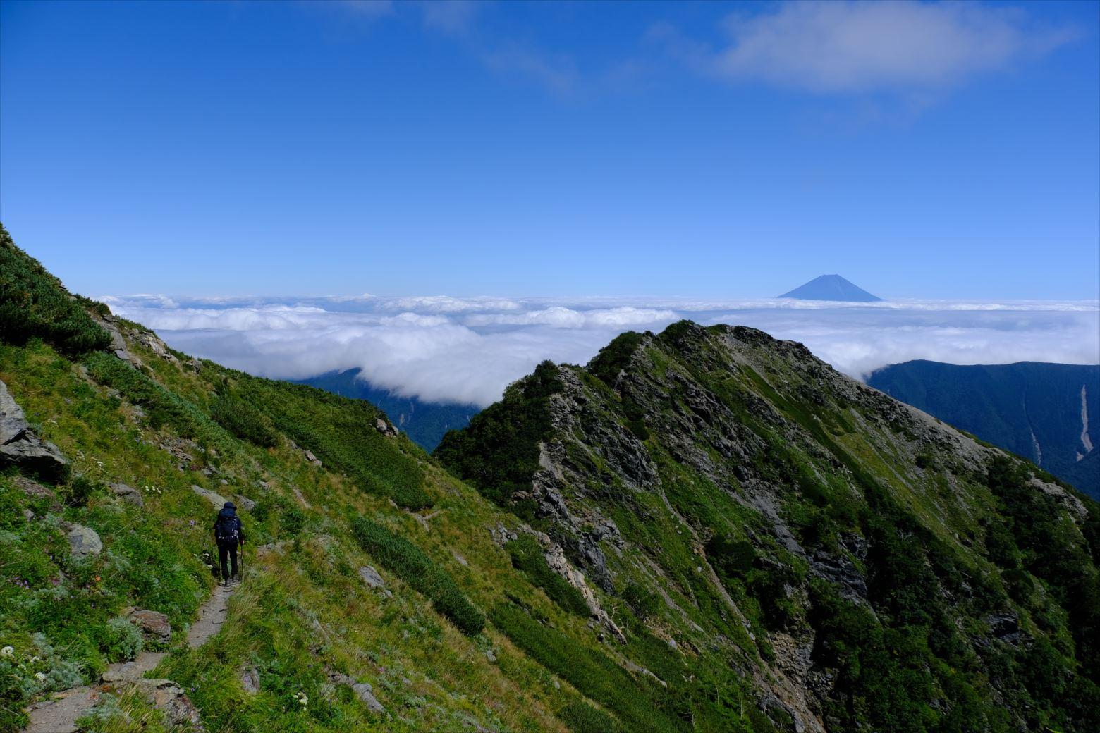 【秋山登山】赤石岳・荒川三山 (136)